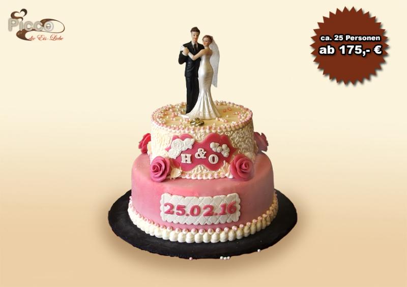 Eistorte für kleinere Hochzeitsgesellschaften
